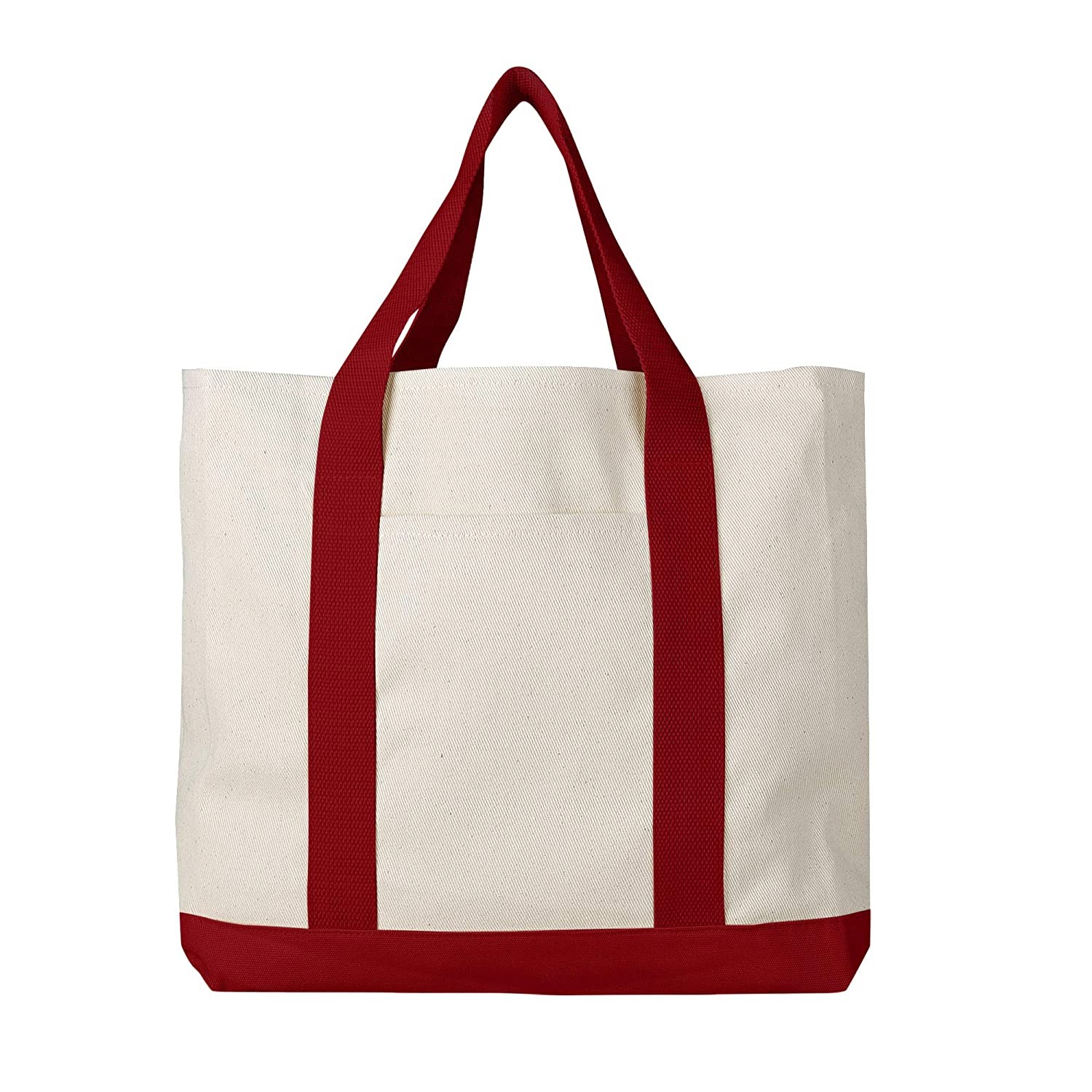334351be6a02 Pack of 3 - Heavy Duty Cotton Canvas Twill Travel Tote Bags Large Thick  Reusable Blank Tote Bags - Shopping Grocery Bags Eco Friendly Canvas Bags  in Bulk ...