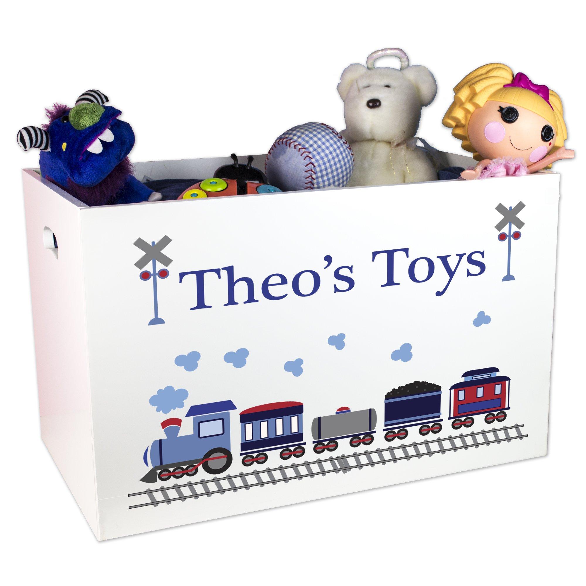 Boy's Personalized Train Toy Box