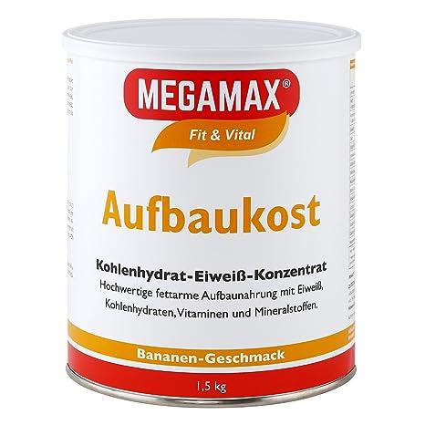 MEGAMAX - Aufbaukost - Suplemento para ganar peso y masa muscular - Plátano - Solo un