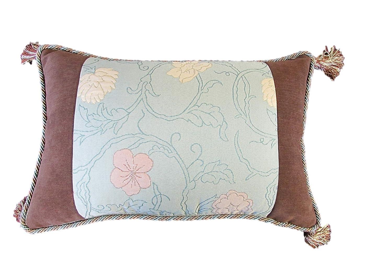 Corona Decor Juilia European-Woven Floating Flowers Jacquard Pillow