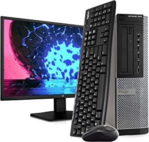 Dell OptiPlex 7010 PC Desktop Computer, Intel i5-3470 3.2GHz, 8GB RAM, 1TB HDD, Windows 10 Pro, New 23.6