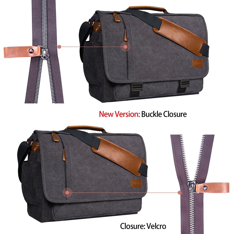Estarer Laptop Messenger Bag 17-17.3 Inch Water-resistance Canvas Shoulder Bag for Work College by Estarer (Image #2)