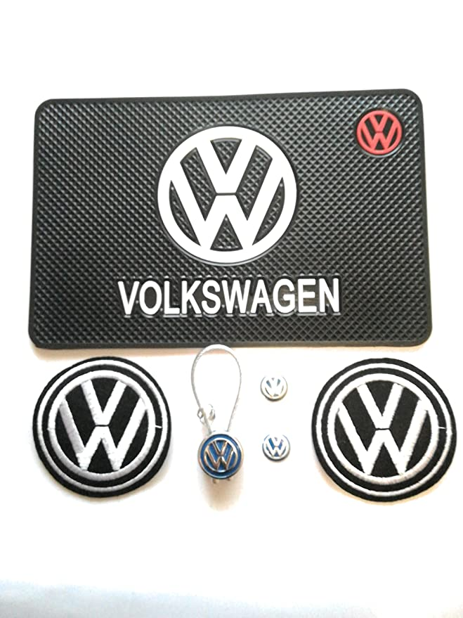 PACK VW ALFOMBRILLA SILICONA 2 PARCHES 2 PEGATINAS LLAVE 1 ...