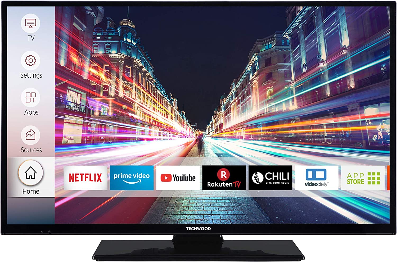 Smart TV inkl. Prime Video // Netflix // YouTube, HD ready, Works with Alexa, Triple-Tuner Techwood H32T52E 32 Zoll Fernseher Modelljahr 2020
