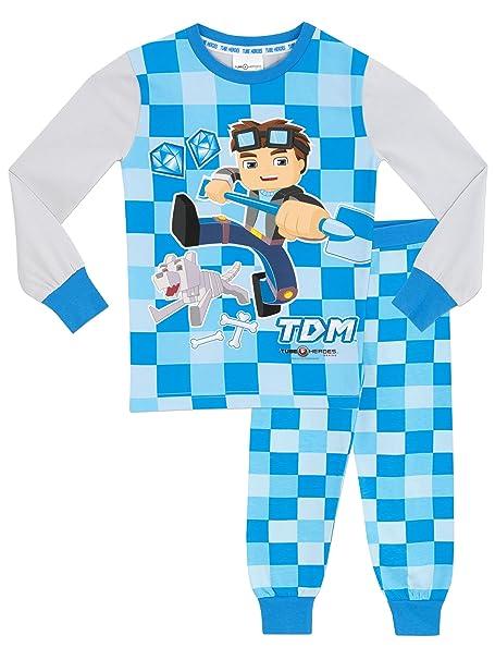 Tube Heroes - Pijama para Niños - Dan TDM - Ajuste Ceñido - 11 - 12