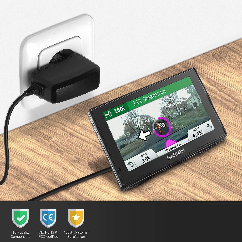 1A 5V Mini USB Cable de Carga Negro 1000mA Compatible con Garmin Alpha/® 100 Astro 220 Astro 320 Astro 50 Atemos 100 GPS Atemos 50 GPS K5 T5 GPS T5 subtel/® Cargador 1.1m