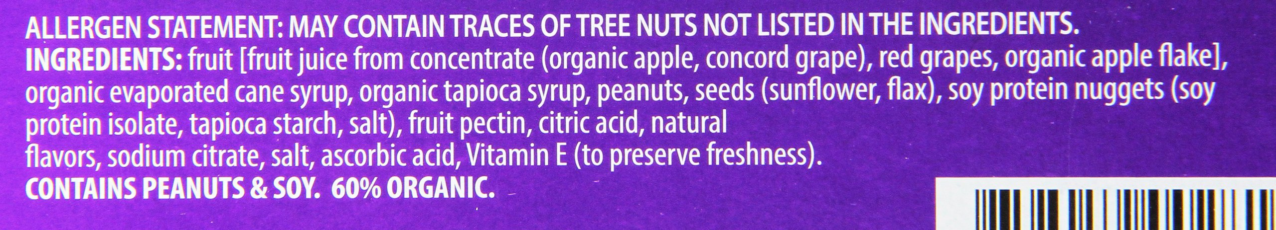 Orchard Bars Peanut Crunch Fruit and Nut Bar, Concord Grape, 1.4 Ounce (Pack of 12) by Orchard Bars (Image #3)