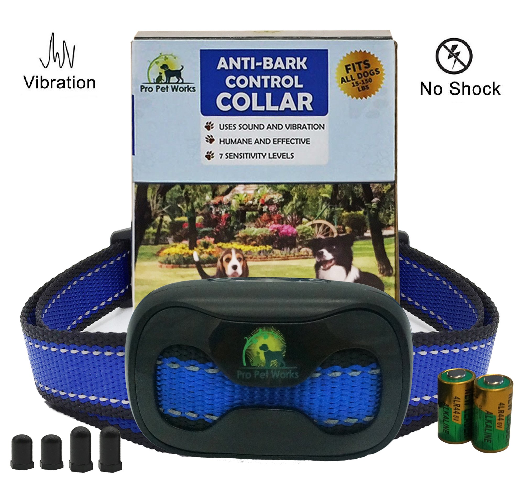 [CLEARANCE SALE!] PRO PET WORKS No Bark Dog Collar NO SHOCK Bark Control Training Collar For Small Medium And Large Dogs- 15-150lbs