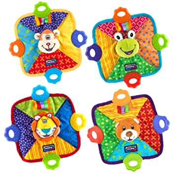 Amazon.com   Nuby Teething Blankie - Characters May Vary - Pack of 1   Baby f1e827d141f6