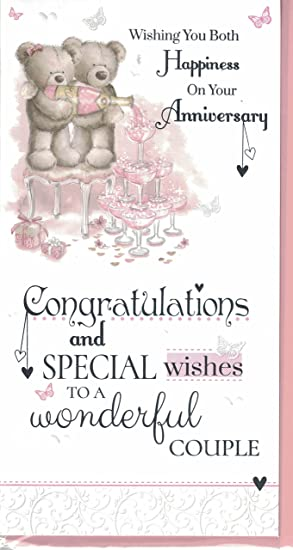 Wedding anniversary card to a special couple on your wedding wedding anniversary card to a special couple on your wedding anniversary bears with heart voltagebd Choice Image