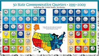 product image for Complete 50 Uncirculated State (99-08) Quarter Collection Set + 6 Territory Quarters from The US Territories Program in a Beautiful Folder Display Book (Complete Set)
