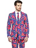 OppoSuits Crazy Suits for Men Comes with Jacket, Pants and Tie in Funny Designs – 100%