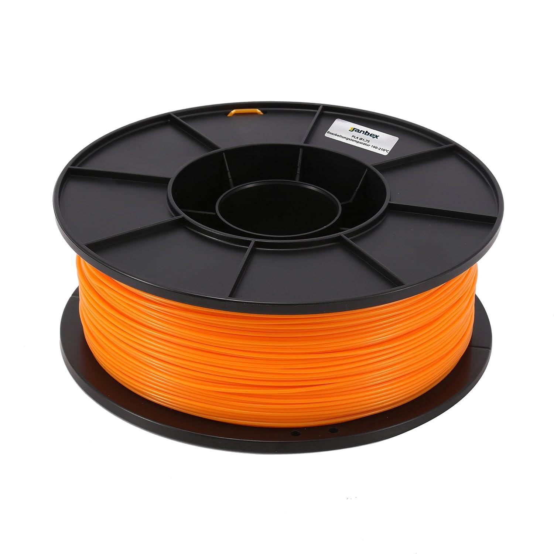 PLA Filamento 1,75 mm 1 kg rollo para impresora 3d, Orange, 1 ...