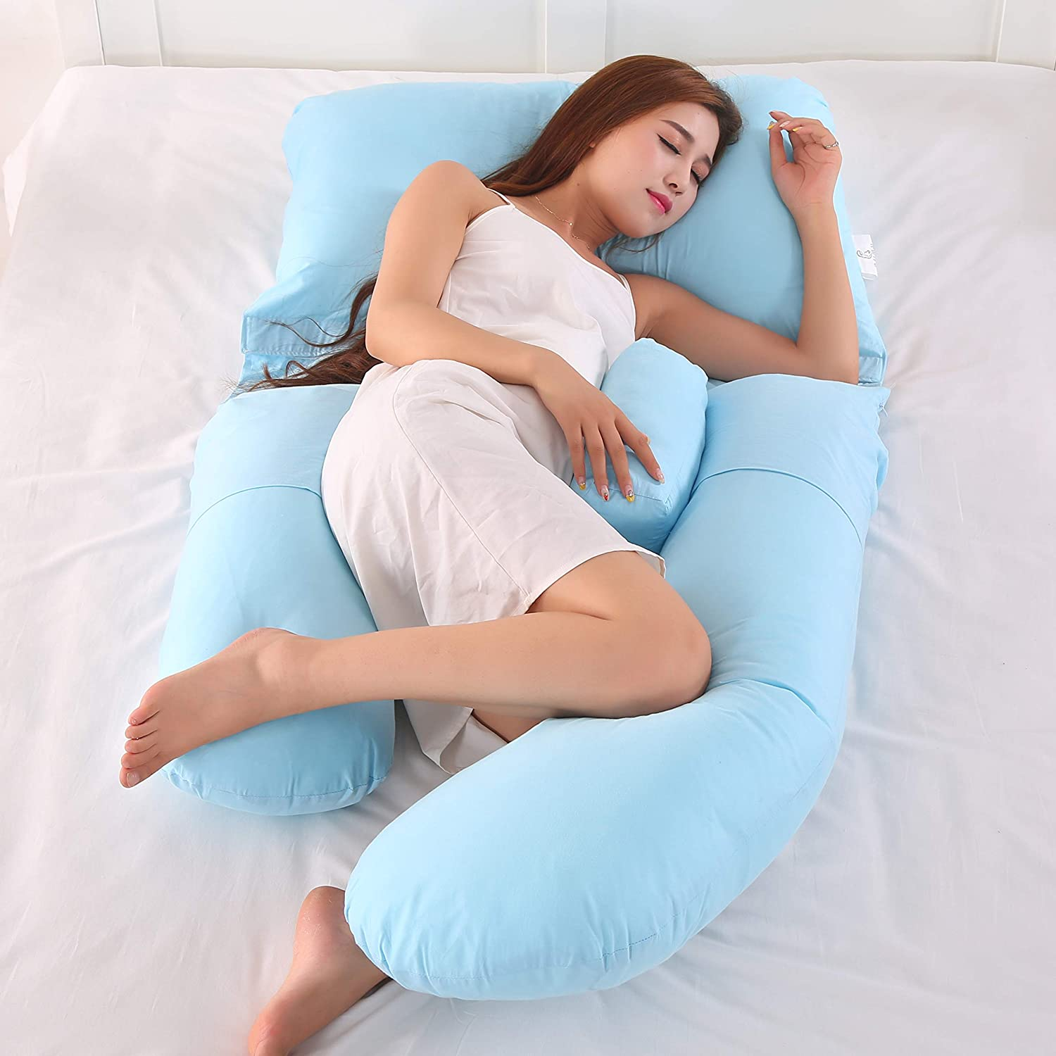 G Shape Pillow Pregnant Woman Side