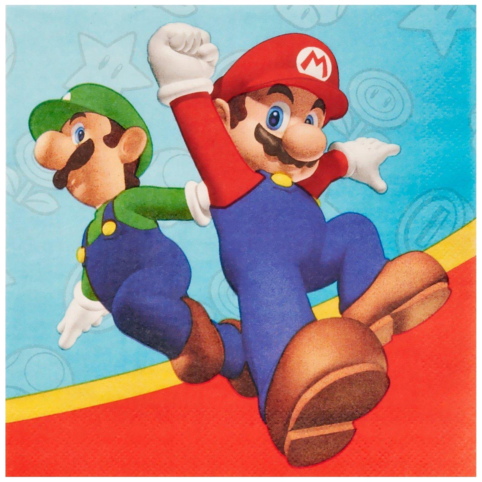 Super Mario Party Supplies - Lunch Napkins (20)