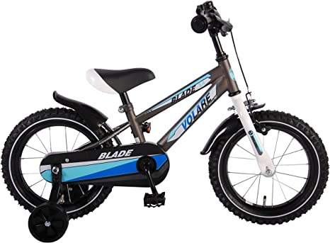 Bicicleta Niño 14 Pulgadas con Ruedas Extraíbles Plata Azul ...