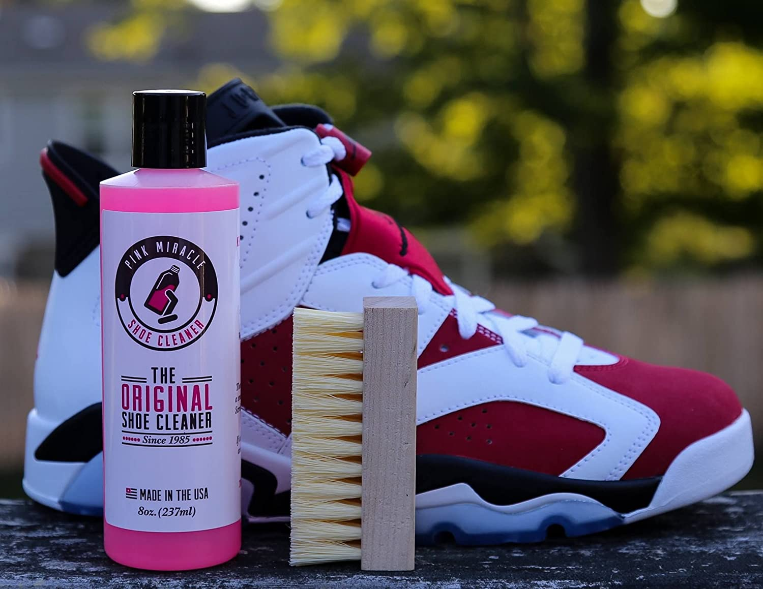 599ec0f0036 Amazon.com  Pink Miracle Shoe Cleaner Kit 8 Oz. Bottle Fabric Cleaner For  Leather