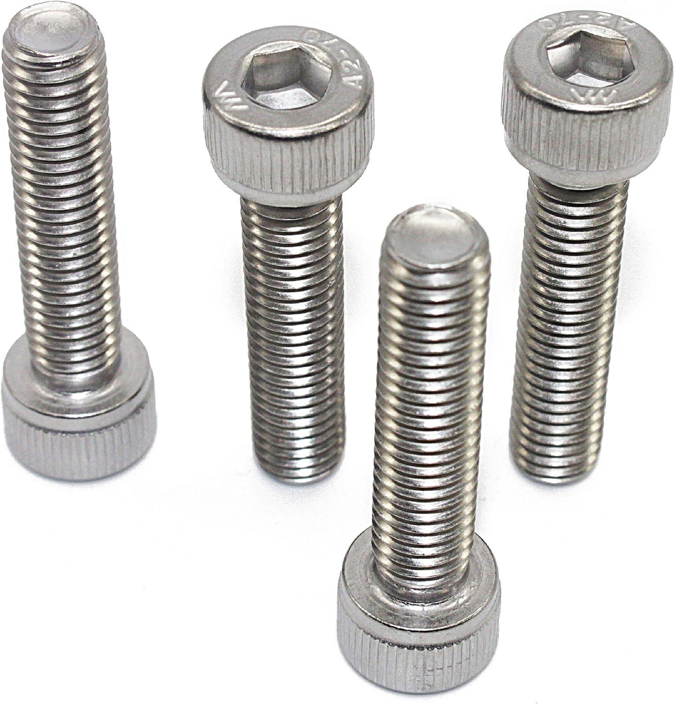 Quantity 20 Full Thread Machine Thread 18-8 Bright Finish AISI 304 Stainless Steel Allen Socket Drive Fullerkreg M6-1.0 x 20MM Socket Head Cap Screws Din 912