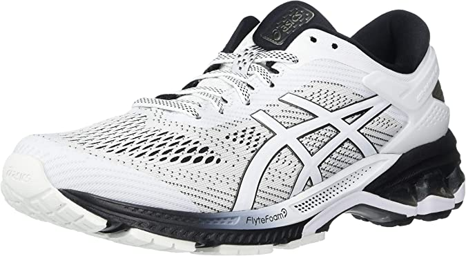 ASICS Womens Gel-Kayano 26 Running Shoes, 7.5M, White/Black: Amazon.es: Zapatos y complementos