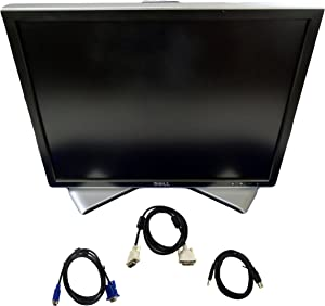 Dell 2007FP 20.1 Inch Ultrasharp 1600x1200 Flat Panel Monitor with Height-Adjustable stand – C9536 (Renewed)