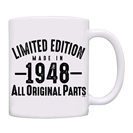 Mug 1948 70th Birthday Gifts Limited Edition Made In All Original Parts Coffee