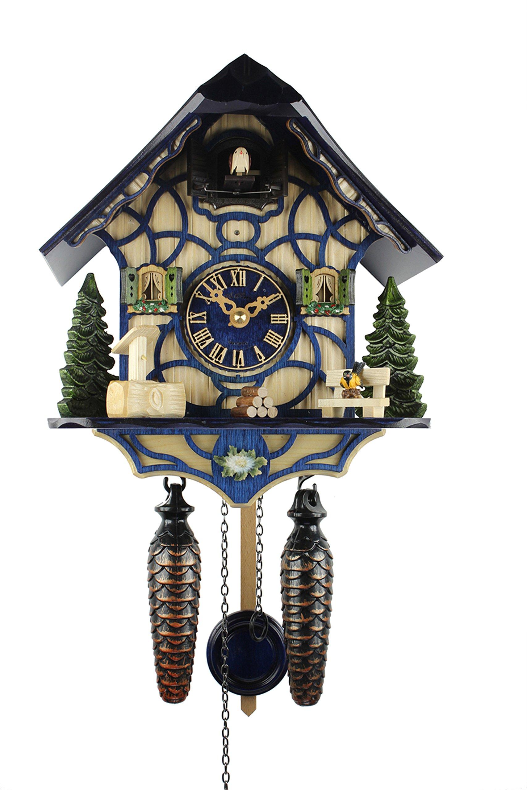Adolf Herr Quartz Cuckoo Clock - Magic Blue by ISDD Cuckoo Clocks