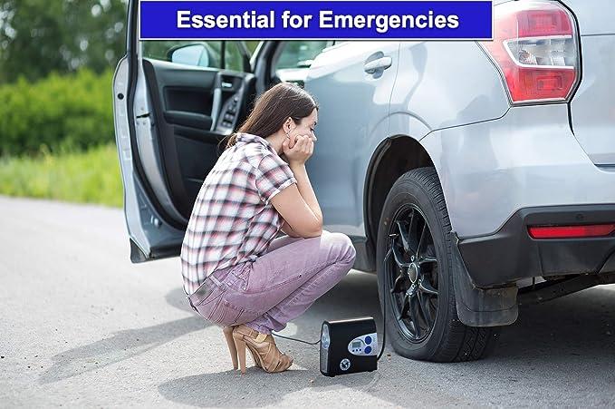 P.I. Auto Store Inflador de Neumáticos Digital Premium - Compresor de Aire Automático Portátil Eléctrico de 12V DC. Bombea hasta 10,3 bares. Con estuche de ...