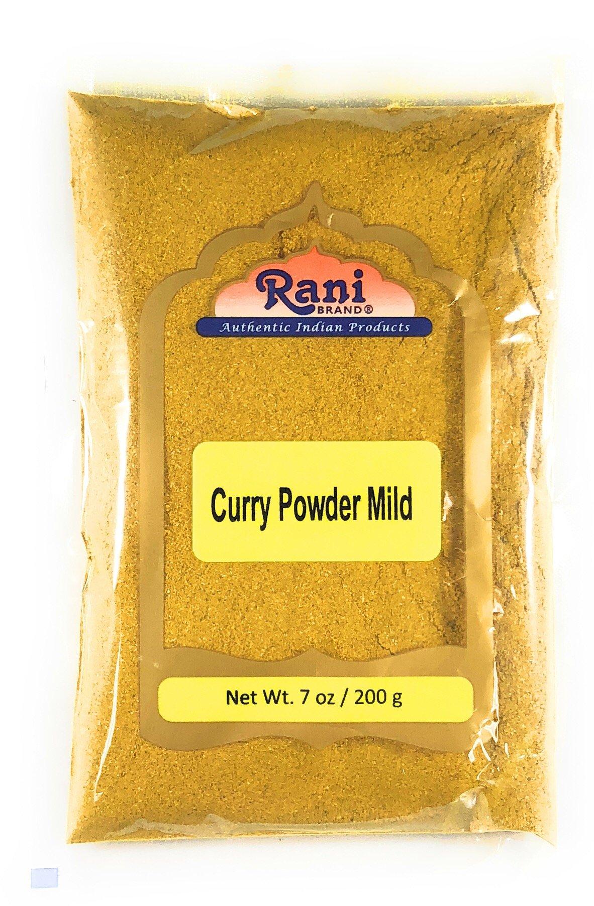 Rani Curry Powder Mild Natural 10-Spice Blend 200g (7oz) ~ Salt Free | Vegan | Gluten Free Ingredients | NON-GMO