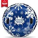 Upgraded 48 Inch Snow Tube No More Popped with Thicker 0.8mm Military Grade Material Inflatable Snow Sled for Kids and…
