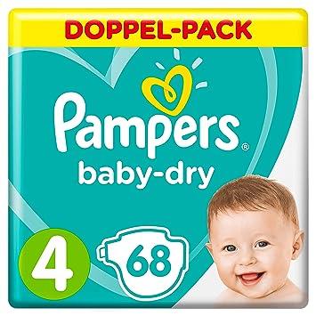 Gr./4 Pampers Baby-Dry Windeln 68 St/ück f/ür Atmungsaktive Trockenheit