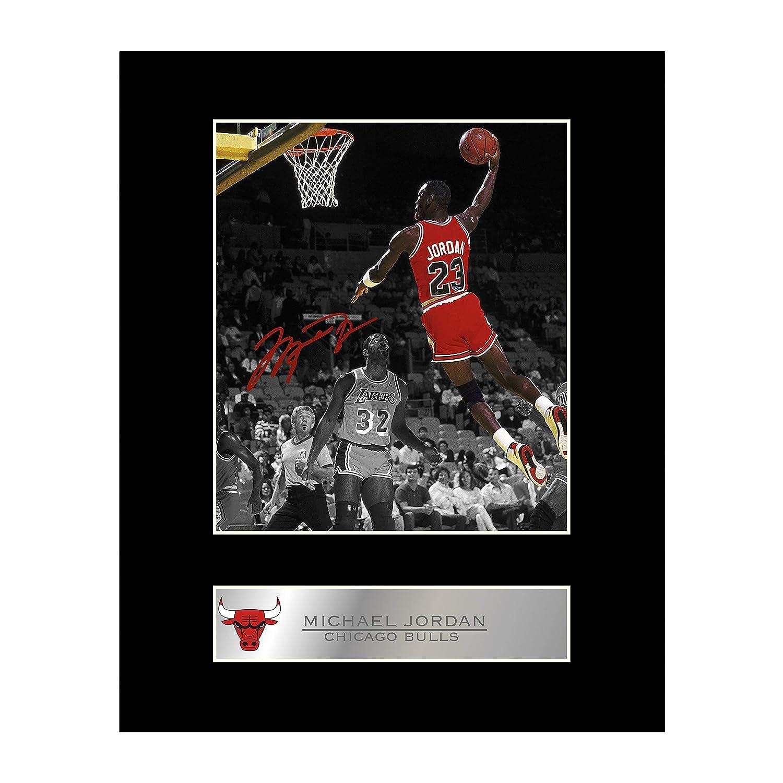 Michael Jordan Photo dédicacée encadrée Chicago Bulls # 2 Iconic pics