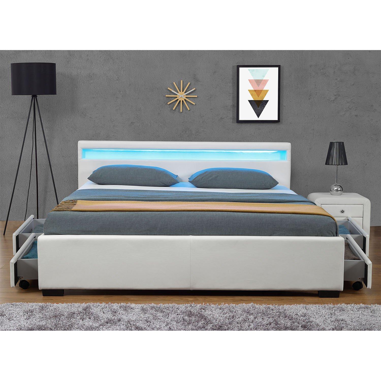 bettgestell mit licht. Black Bedroom Furniture Sets. Home Design Ideas