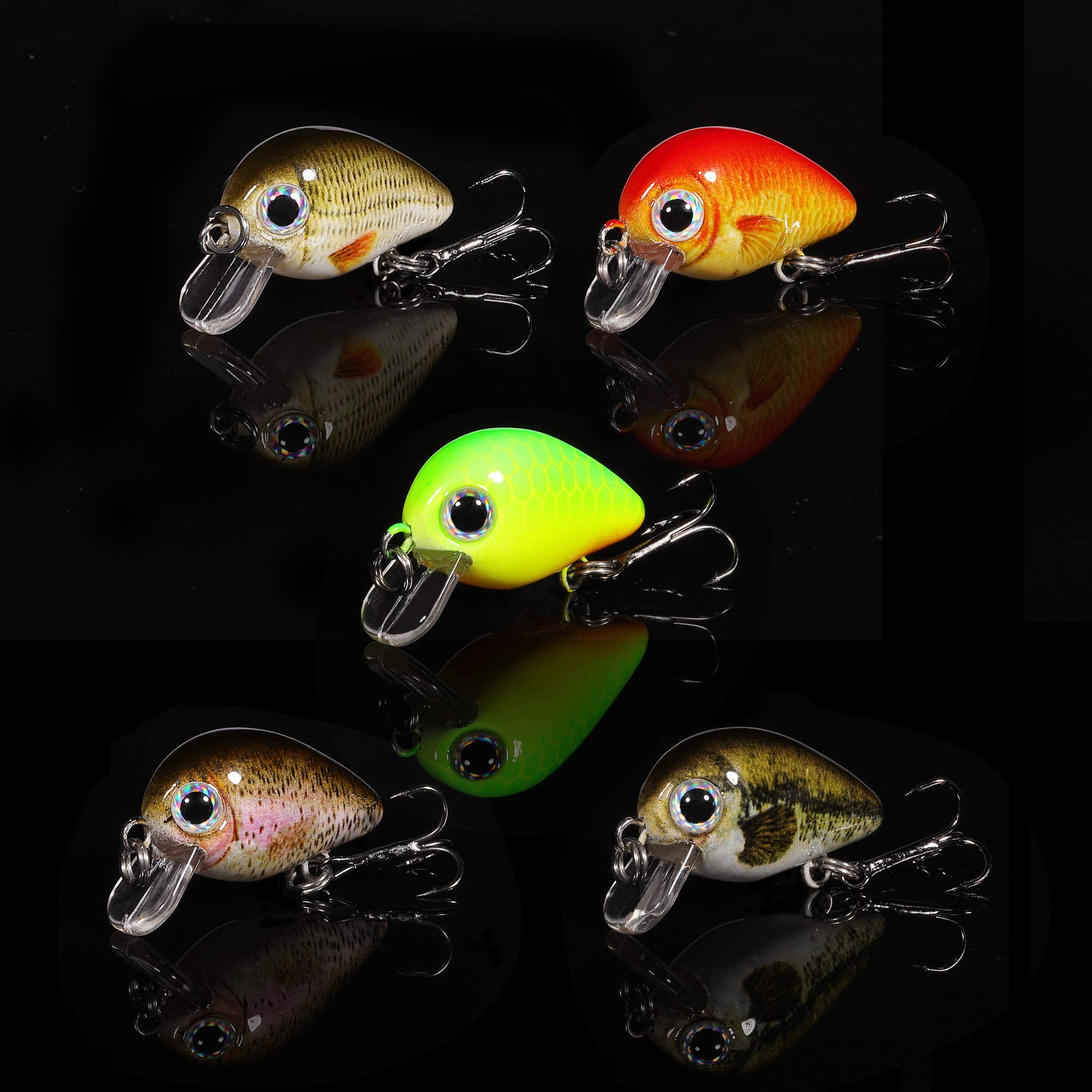 TRUSCEND Fishing Lures Set 5PCS Topwater Diving Swimbait Crankbait Fishing Wobble Multi Jointed Hard Baits for Bass Trout Freshwater and Saltwater