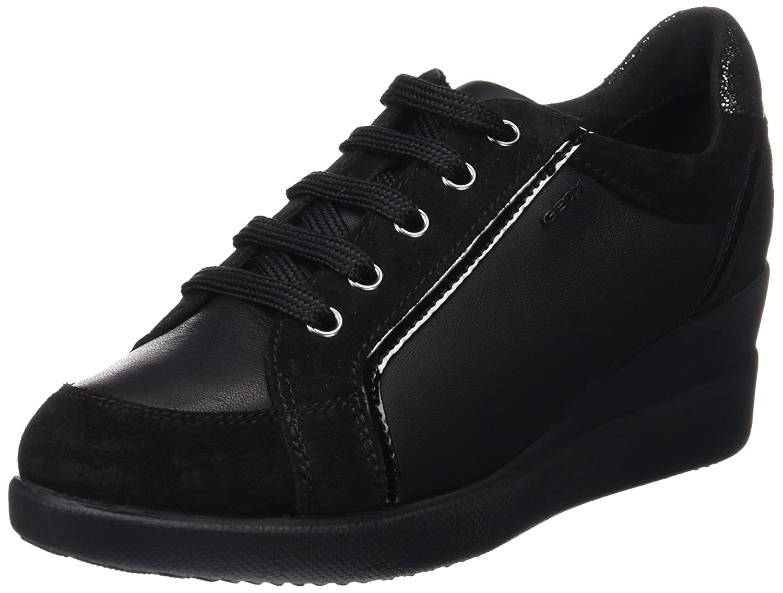 Geox Women's Stardust 19 Fashion Sneaker B01GRUZWD6 40 M EU / 10 B(M) US|Black