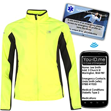 d6514c9a006e Karrimor Ladies Hi Viz Run Jacket Safety BRIGHT Visible Yellow Winter  Reflective Jogging