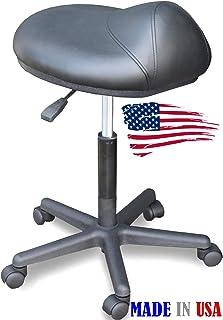 915-FF Salon Spa Saddle Anti-fatigue Cutting Stool chair Made in USA by  sc 1 st  Amazon.com & Amazon.com: Kayline Stylist Saddle Stool Hi-rider * Seating Black ... islam-shia.org