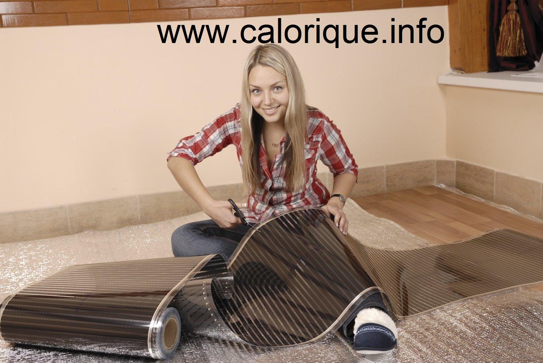 Calefactor por infrarrojos 230 volt 0,5 a 20,0 m/² 150 W//m/² de suelo radiante Calorique pantalla el/éctrica de suelo radiante 100 cm