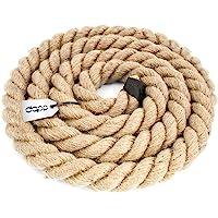 DQ-PP CUERDA DE YUTE | Longitud 5m | Grosor 30mm | Cuerda de Fibra 100% Natural Marrón | Cuerdas decorativa | Decoracion…