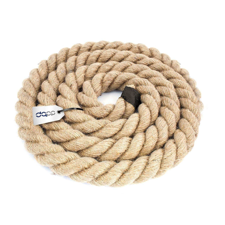 DQ-PP CUERDA DE YUTE | Longitud 10m | Grosor 28mm | Cuerda de Fibra 100% Natural Marrón | Cuerdas decorativa | Decoracion de bricolaje | Macramé | ...
