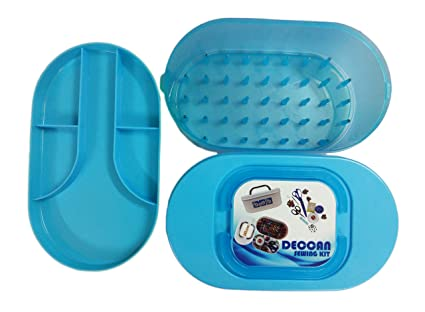 DECCAN ABS Sewing Thread and Accessories Storage Box Blue for 41
