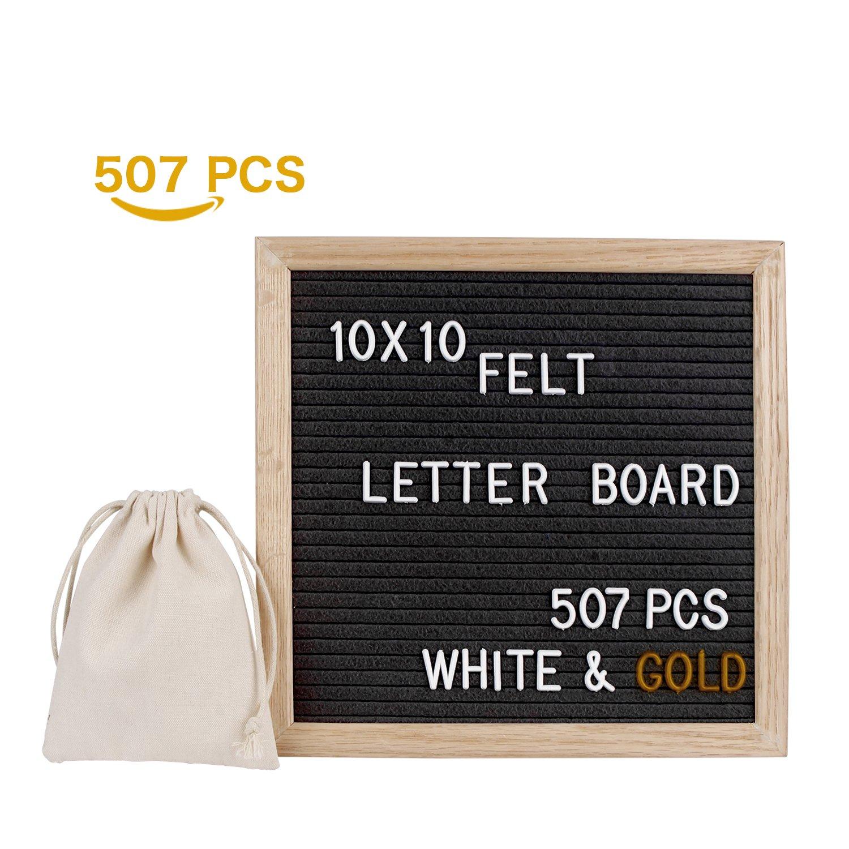LiDiwee Veränderbare Filz Brief Board - 507 Weiß und Gold Plastik ...