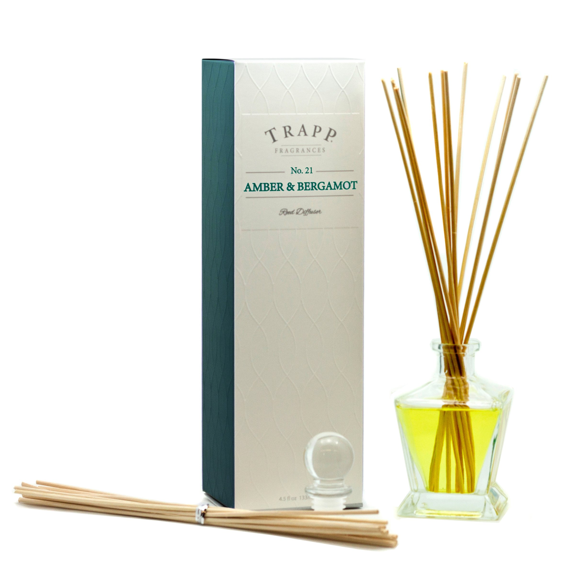 Trapp Ambiance Collection No. 21 Reed Diffuser Kit, Amber & Bergamot, 4.5-Ounce by Trapp