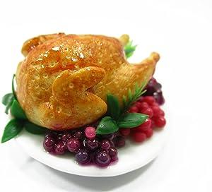 Dollhouse Miniatures Christmas Food Roast Turkey Holiday Thanksgiving 13960