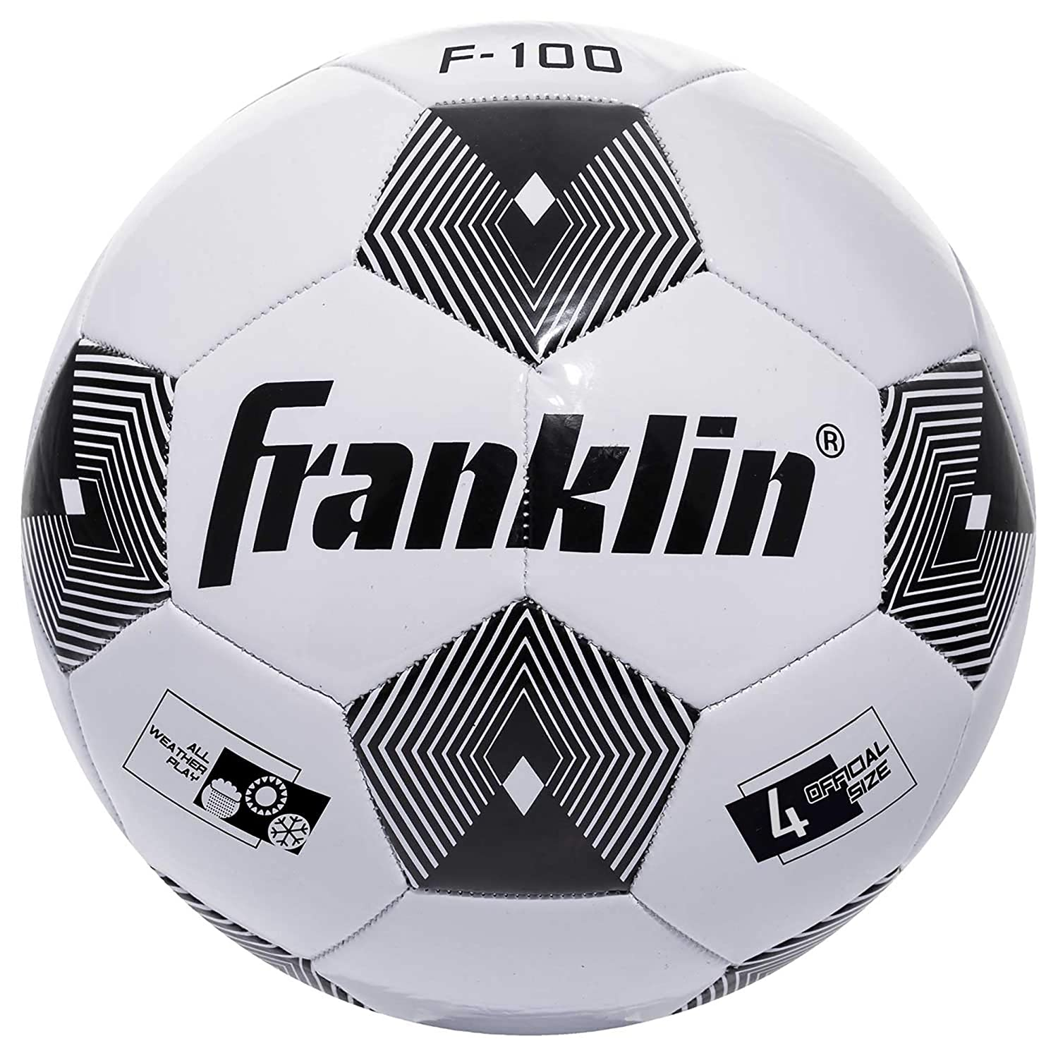 30207X Deflated with Pump Inc Franklin Sports Competition F-100 Soccer Ball 12 Youth and Adult Soccer Ball Available In Size 3 Size 4 and Size 5 Available As Individual Ball or Bulk
