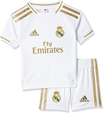 Adidas 2019 2020 Real Madrid Home Mini Kit Clothing