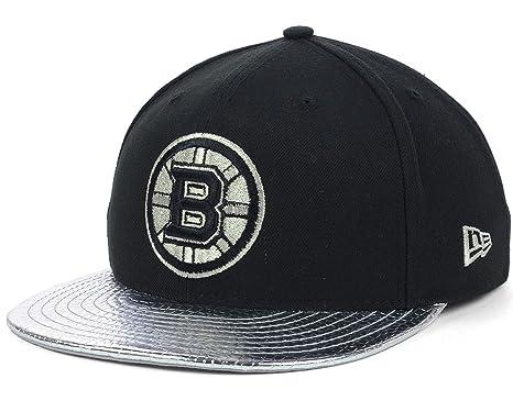 wholesale dealer 643eb 8f87c Boston Bruins New Era NHL 59FIFTY Cap Hat Chrome Snakeskin Metallic Slither  at Amazon Men s Clothing store