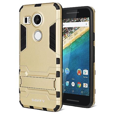 SAVFY® Nexus 5X Carcasa Híbrida de Silicona + Polycarbonato ...