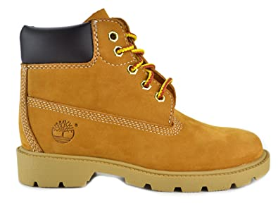 8f36dc328 Timberland 6 Inch Preschool Kids Wheat Nubuck Leather Boots Wheat 10760-1