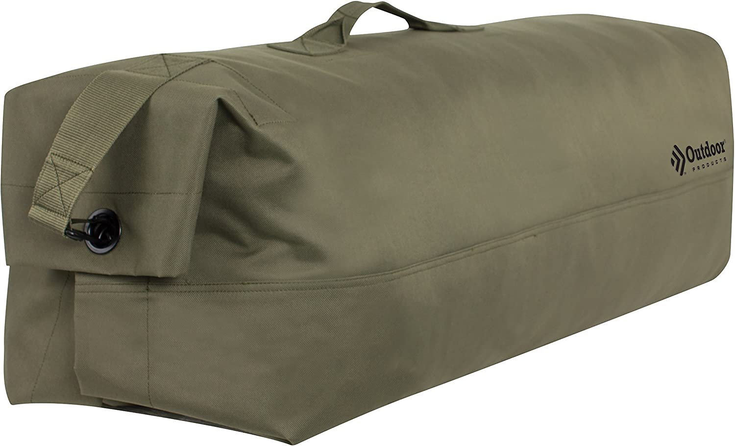 Outdoor Products GI Canvas Duffle Bag, 104.9-Liter Storage, Green