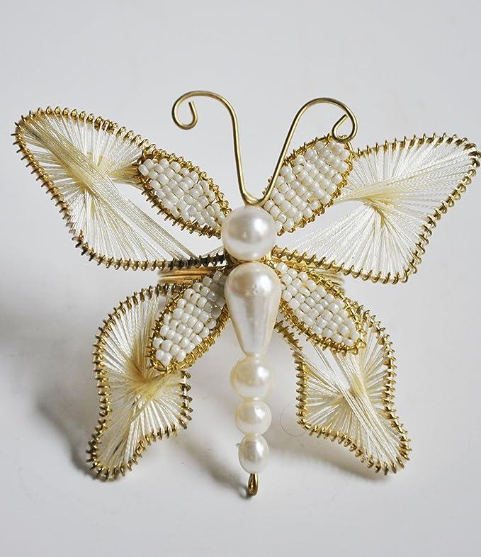Juego de 6 mariposas de Navidad Vacaciones servilleta anillo ...